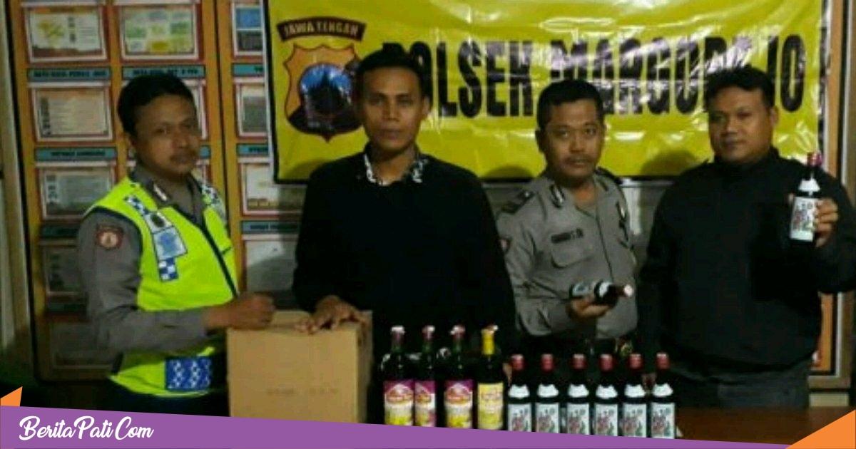 Lagi, Polisi Pati Grebek Wagenan, Puluhan Botol Miras Disita