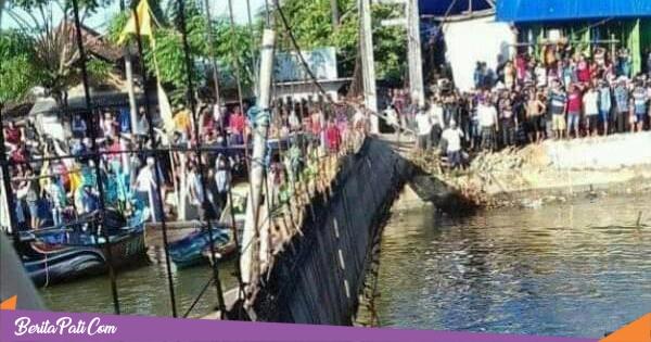 Jembatan Gantung Berusia 25 Tahun di Dukuhseti Putus, 20 Orang Jatuh ke Sungai
