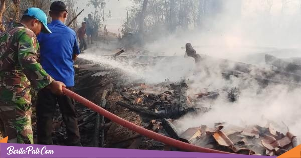 Empat Rumah di Desa Kropak Winong Terbakar, Diduga Akibat Konsleting Listrik